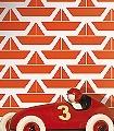 Divis,-col.01-Schiffe-KinderTapeten-Rot-Orange-Weiß