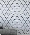 Dolly,-col.05-Rauten-kl.-Blümchen-Klassische-Muster-Silber-Grau-Schwarz-Weiß-Creme