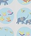Dottiness-Tiere-Punkte-KinderTapeten-Weiß-Multicolor-Hellblau