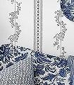 Drottningholm,-col.-8-Blumen-Ranken-Jugendstil-Klassische-Muster-Florale-Muster-Jugendstil-Grau-Weiß