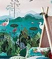 Dusky-amazon-Tiere-Bäume-Landschaft-FotoTapeten-KinderTapeten-Multicolor