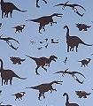 Dya-think-e-saurus-Blue--Tiere-KinderTapeten-Braun-Hellblau