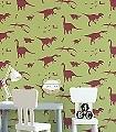 Dya-think-e-saurus-Green-and-Red--Tiere-KinderTapeten-Rot-Hellgrün