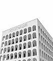E42-Figuren-Gebäude-Moderne-Muster-Grau-Anthrazit-Weiß