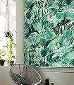 EVERGREEN-Blätter-Florale-Muster-FotoTapeten-Grün