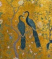 Edo-gold,-col.91-Vögel-Fauna-Gold