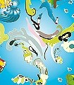 Elfenkind,-ozean-Blumen-Figuren-KinderTapeten-Blau-Multicolor