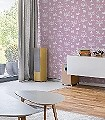 Enchanted-Wood,-Peony-Tiere-Bäume-Figuren-Fauna-KinderTapeten-Rosa-Weiß