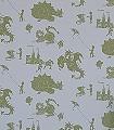Ere-be-Dragons,-grey-Figuren-Gebäude-KinderTapeten-Grün-Grau