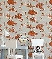 Ere-be-Dragons,-stone-Figuren-Gebäude-KinderTapeten-Grau-Braun-Orange