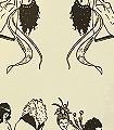Erotica-Figuren-Moderne-Muster-Schwarz-Creme