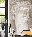 Esquisse-Gesichter-Zeichnungen-3D-Tapeten-FotoTapeten-Grau-Weiß-Hellbraun