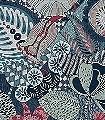 Euphoria,-col.-50-Blumen-Tiere-Gewebe-Vögel-Stoff-Fauna-Florale-Muster-Creme-petrol