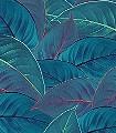 FOLIAGE-Blätter-Florale-Muster-FotoTapeten-Rot-Grün-Blau