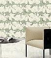 Familienbande,-col.-2-Tiere-Vögel-Moderne-Muster-Grün-Anthrazit-Creme
