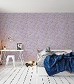 Fayre`s-Fair,-Heather/Gold-Tiere-Moderne-Muster-KinderTapeten-Gold-Flieder