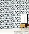 Fergus-Tiere-Punkte-KinderTapeten-Anthrazit-Weiß-mint