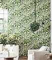 Fern,-col.-1-Blumen-Blätter-Florale-Muster-Grün-Lila-Weiß