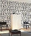 Fern-Gallery,-col.03-Blätter-Bilderrahmen-Florale-Muster-Braun-Schwarz-Creme-Ocker