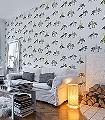 Fish-meets-bird,-col.1-Tiere-Vögel-Fische-Fauna-Moderne-Muster-Schwarz-Weiß