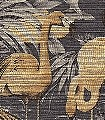 Flamingo,-col.40-Tiere-Gewebe-Vögel-Stoff-Flamingos-Fauna-Anthrazit-Ocker