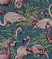Flamingo,-col.41-Tiere-Gewebe-Vögel-Stoff-Flamingos-Fauna-Pink-petrol