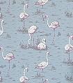 Flamingos,-col.-44-Vögel-Flamingos-Fauna-Moderne-Muster-Creme-Pink-Hellblau