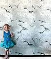 Flight,-chalk-Vögel-Moderne-Muster-Grau-Anthrazit-Weiß