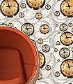 Floating-Clocks,-col.09-Uhren-Moderne-Muster-Gold-Braun-Creme-Ocker