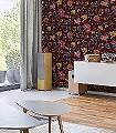 Floral-Fantasy,-col.03-Blumen-Florale-Muster-Multicolor-weinrot