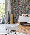 Florentine,-col.23-Blumen-Florale-Muster-Grün-Grau-Multicolor