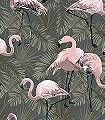 Floriana-Birds,-col.-4-Tiere-Blätter-Vögel-Fauna-Florale-Muster-Rosa-Anthrazit-Schwarz-Weiß