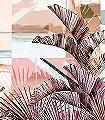 Floridita-Blätter-Formen-FotoTapeten-Rosa-Weiß-Hellbraun