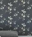 Flower-Luise,-col.-9-Blumen-Äste-Florale-Muster-Grün-Braun-Anthrazit-Türkis-Creme