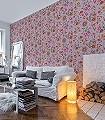 Flowers-in-the-Mix,-col.03-Ornamente-Blumen-Vögel-Florale-Muster-Rosa-Multicolor