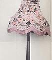 Flowery-Coolie,-pink-Lampe-Moderne-Muster-Grau-Anthrazit-Creme-Hellblau