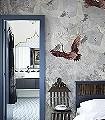Fly-Away,-M-Tiere-Vögel-Fauna-Moderne-Muster-FotoTapeten-Grau-Braun-Weiß