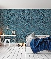 Folium-Bota,-col.-02-Blätter-Florale-Muster-Blau-Bronze
