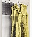 Frock,-yellow-Kleidung-Moderne-Muster-Creme-Multicolor