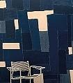 GEOMETRIE-NOCTURNE-Graphisch-Moderne-Muster-FotoTapeten-Grafische-Muster-Blau-Creme
