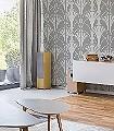 GRADA-SILVER-Blumen-Art-Deco-Silber-Grau-Weiß