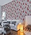 Garden-City,-col.03-Blätter-Moderne-Muster-Rot-Schwarz-Weiß