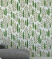 Garden-City,-col.06-Blätter-Moderne-Muster-Grün-Schwarz-Hellgrün-Weiß