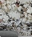 Gartenidyll-Blätter-FotoTapeten-Braun-Creme-Hellbraun