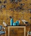 Garzas,-col.05-Blumen-Blätter-Vögel-Asia-Exoten-Gold