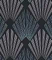 Gatsby-ivy-Ornamente-Rauten-Graphisch-20-50er-Art-Deco-Art-Deco-1920er-Jahre-Schwarz