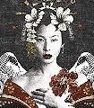 Geisha,-col.-1-Gesichter-Asia-Moderne-Muster-FotoTapeten-Multicolor
