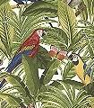 Georgia-Blätter-Vögel-Schmetterlinge-Fauna-Florale-Muster-Weiß-Multicolor