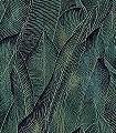 Giorgio,-col.01-Blätter-Florale-Muster-Grün-Schwarz