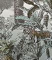 Giraffe-into-the-wild-Tiere-Bäume-Landschaft-Blätter-Fauna-Florale-Muster-FotoTapeten-Multicolor